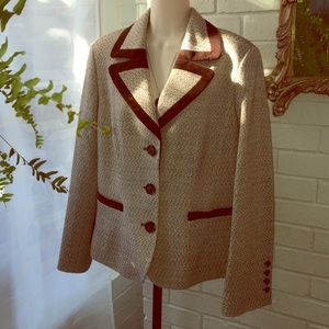 Peck & Peck Equestrian Brown fitted blazer 12